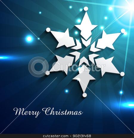 stylish flake stock vector clipart, stylish flake design christmas background by pinnacleanimates