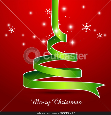 creative christmas tree stock vector clipart, creative style vector christmas tree design by pinnacleanimates