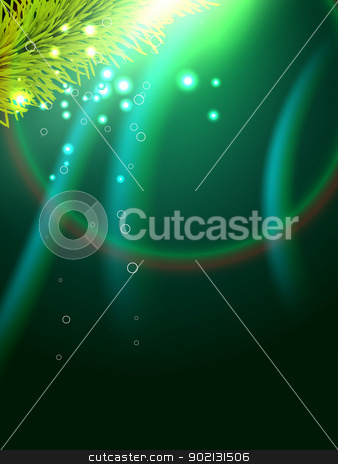 shiny wave background stock vector clipart, beautiful shiny christmas wave style background by pinnacleanimates