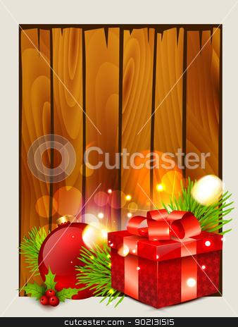christmas background stock vector clipart, beautiful christmas background with space for your text by pinnacleanimates