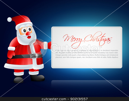 santa claus illustration stock vector clipart, beautiful illustration of santa claus with space for your text by pinnacleanimates