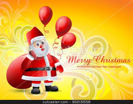 christmas santa claus stock vector clipart, vector christmas santa claus design background by pinnacleanimates