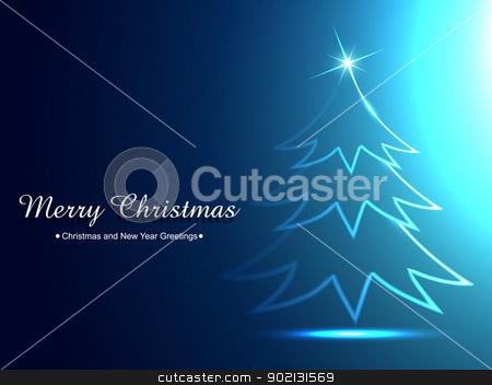 ceative christmas tree stock vector clipart, vector shiny christmas tree design art by pinnacleanimates
