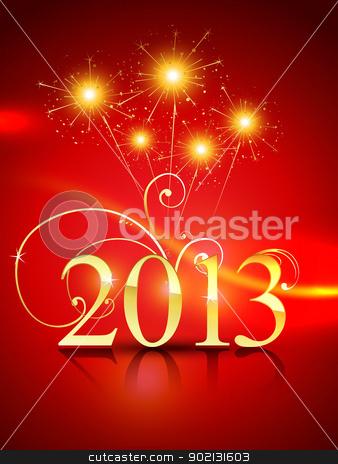 happy new year design stock vector clipart, vector golden style happy new year design by pinnacleanimates