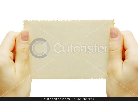 card in hand stock photo, card blank in a hand by Vitaliy Pakhnyushchyy