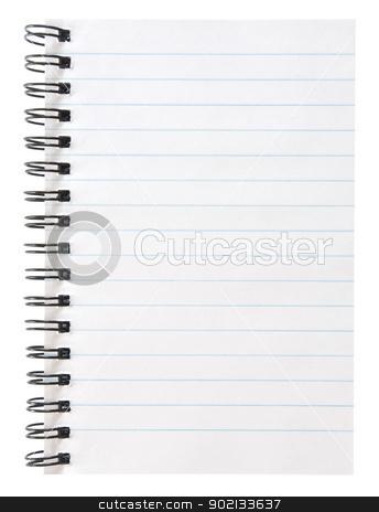 notebook stock photo, blank spiral notepad isolated on white by Vitaliy Pakhnyushchyy