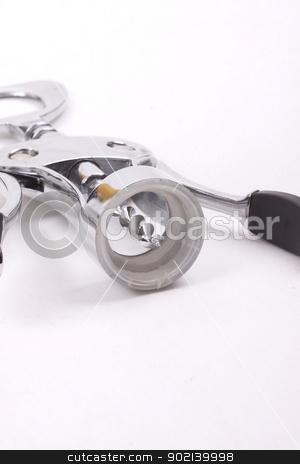 wine opener on white background stock photo, wine opener on white background by bubu45