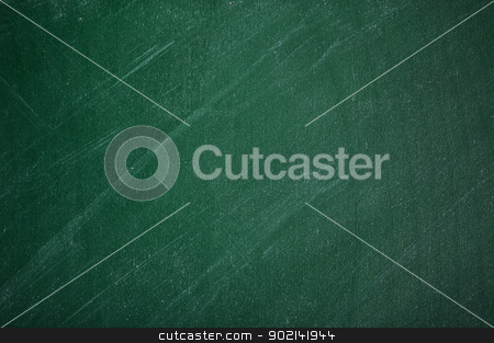 empty  green chalkboard  stock photo, close up of an empty school green chalkboard  by Ivaylo Sarayski