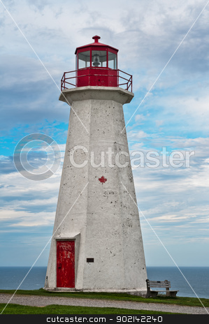 Cape george Lighthouse stock photo, Cape george Lighthouse, on a cloudy day, Nova Scotia, Canada by Ulrich Schade
