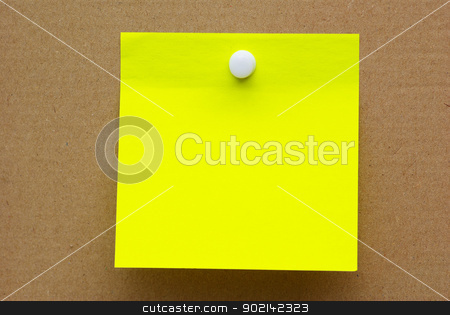note paper  stock photo, note paper on brown background.  for your message. by Vitaliy Pakhnyushchyy