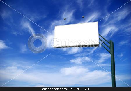 advertising billboard stock photo, advertising billboard on background sky by Vitaliy Pakhnyushchyy