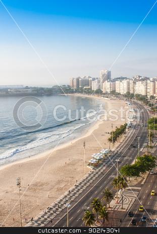 Copacabana Beach stock photo, Brazil, Rio de Janeiro. The famous beach of Copacabana by Perseomedusa