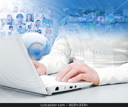 Symbol of social network stock photo, Symbol of social network with people images by Sergey Nivens