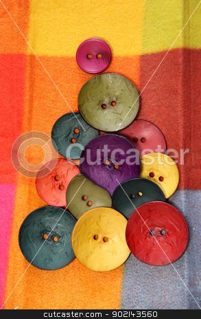 Christmas in creative style  stock photo, Button Christmas tree by Tatiana Mihaliova