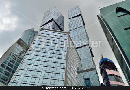 Moscow City buildings. stock photo, The new district of Moscow - Moscow City buildings. by Nikolay