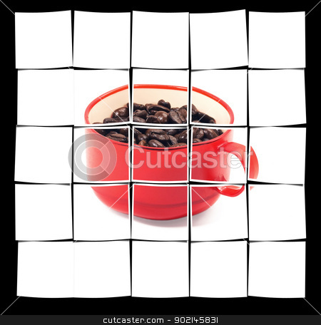 red cup of coffee stock photo, red cup of coffee isolated on white background by Francesco Perre
