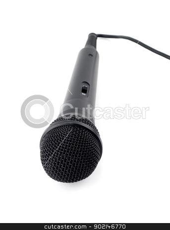 dynamic mic  stock photo, dynamic mic karaoke isolated on white background by Vladyslav Danilin