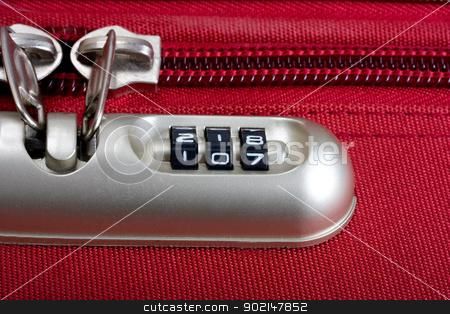lock password stock photo, password number lock bag and zipper texture red by Vladyslav Danilin