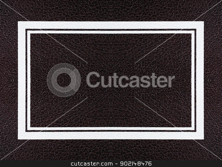 leather frame stock photo, Dark   leather texture with  frame  by Ivaylo Sarayski