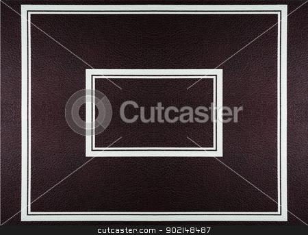 leather frame  stock photo, Dark red brоwn  leather texture with  frame  by Ivaylo Sarayski