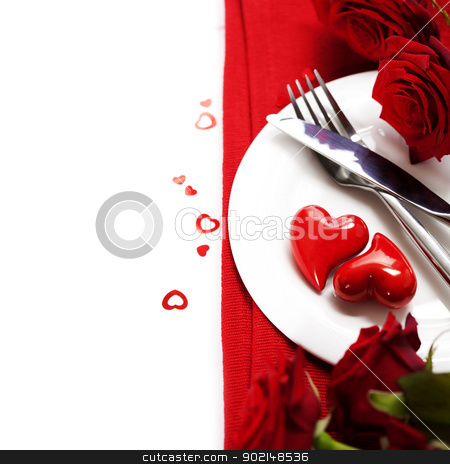 hearts on a plate stock photo, hearts on a plate. Love, harmony and Valentine's day concept by klenova
