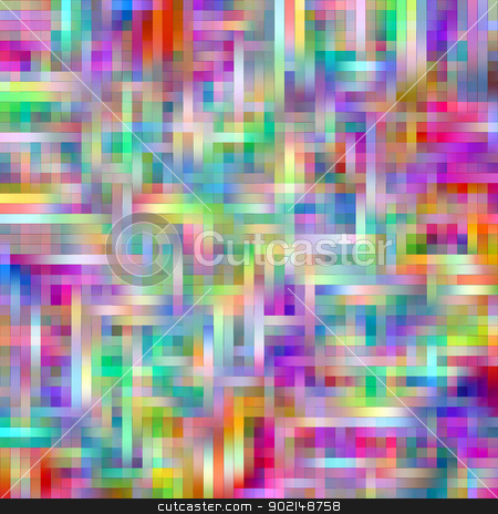 Bright multicolored grid matrix abstract pattern. stock photo, Bright rainbow colors grid matrix abstract pattern. by Stephen Rees