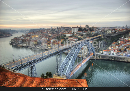 Ponte Luis I bridge, Porto stock photo, View over Ponte Luis I bridge, Porto, Portugal by dinozzaver