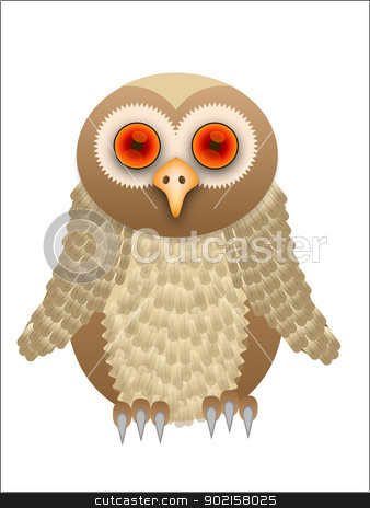 A Vector cartoon owl illustration stock vector clipart, A Vector cartoon owl illustration saved in EPS10 format by Mike Price