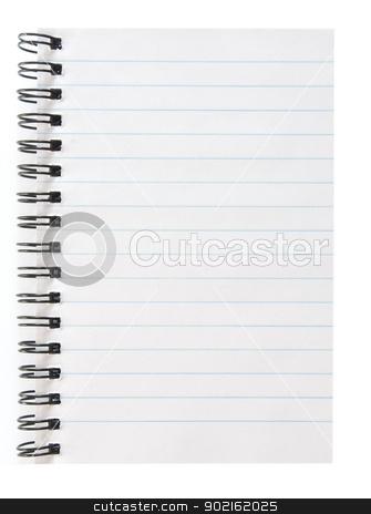 blank notepad stock photo, blank spiral notepad isolated on white by Vitaliy Pakhnyushchyy