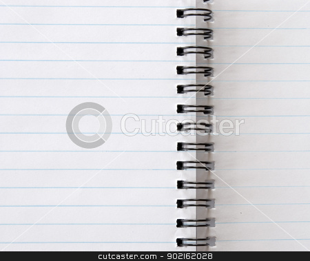 spiral notepad stock photo, blank spiral notepad isolated on white by Vitaliy Pakhnyushchyy