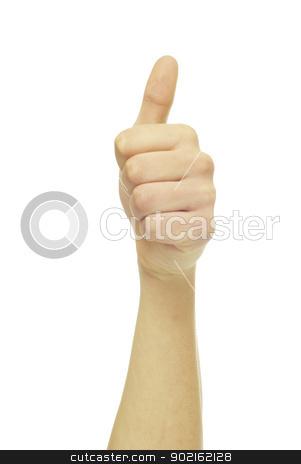 success hand  stock photo, success hand sign isolated on white by Vitaliy Pakhnyushchyy