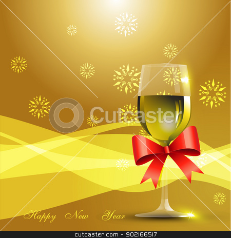 wine glass stock vector clipart, vector wine glass celebration background by pinnacleanimates