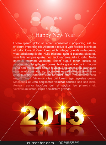new year background stock vector clipart, beautiful new year background with space for your text by pinnacleanimates