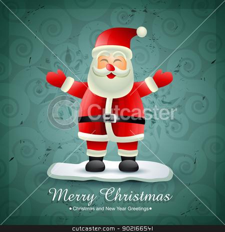 santa claus stock vector clipart, vector happy santa claus design illustration by pinnacleanimates