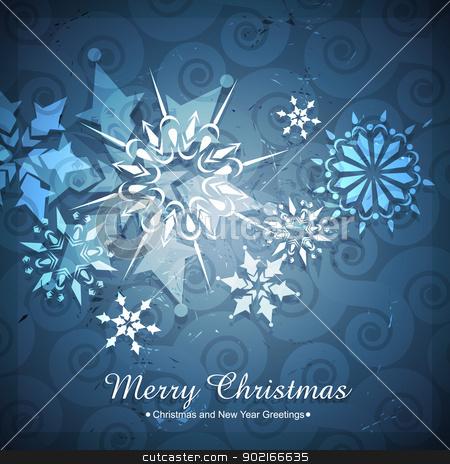 seasonal winter background stock vector clipart, beautiful winter christmas seasonal background by pinnacleanimates