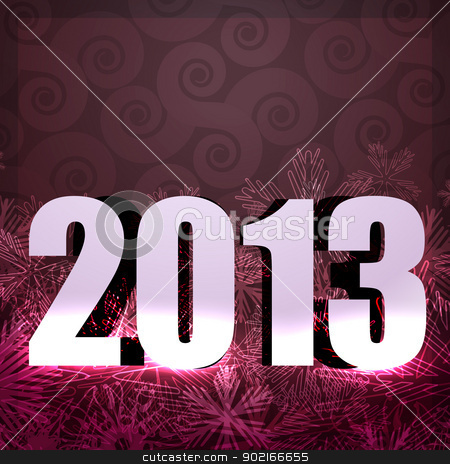 2013 new year design stock vector clipart, vector illustration of 2013 happy new year by pinnacleanimates