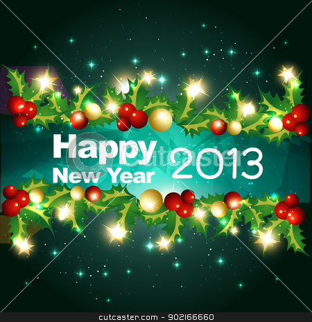 happy new year design stock vector clipart, vector happy new year design illustration by pinnacleanimates