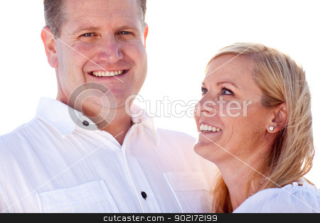 Attractive Caucasian Couple Having Fun Outside stock photo, Attractive Loving Caucasian Couple Having Fun Outside Portrait. by Andy Dean