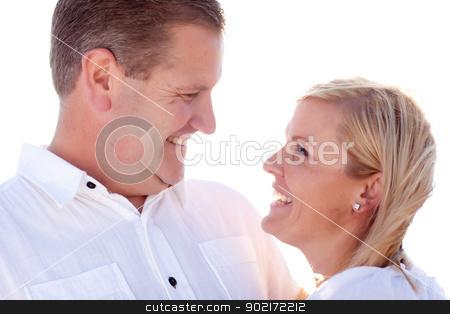 Attractive Caucasian Couple Having Fun Outside stock photo, Attractive Loving Caucasian Couple Having Fun Outside Portrait. by Andy Dean