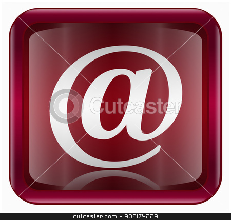 email symbol icon dark red, isolated on white background stock photo, email symbol icon dark red, isolated on white background by Andrey Zyk
