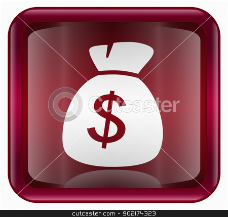 dollar icon red, isolated on white background stock photo, dollar icon red, isolated on white background by Andrey Zyk