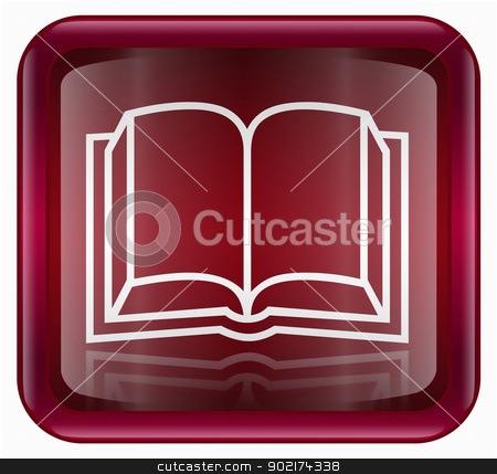 book icon red stock photo, book icon red, isolated on white background by Andrey Zyk
