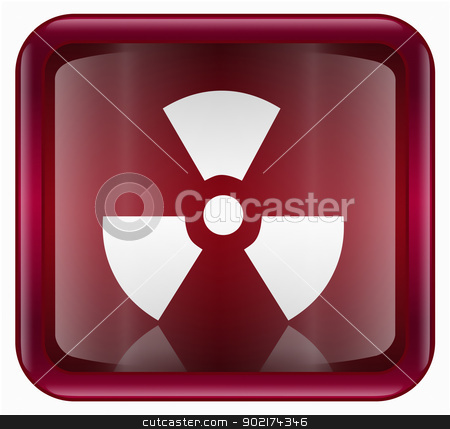 Radioactive icon dark red, isolated on white background. stock photo, Radioactive icon dark red, isolated on white background. by Andrey Zyk