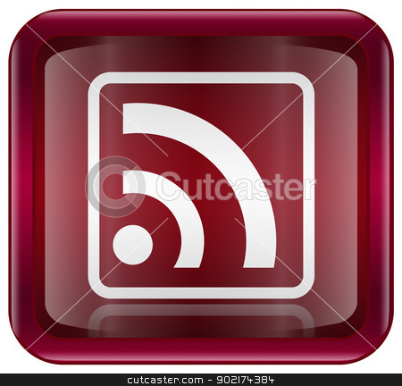 WI-FI icon red, isolated on white background stock photo, WI-FI icon red, isolated on white background by Andrey Zyk