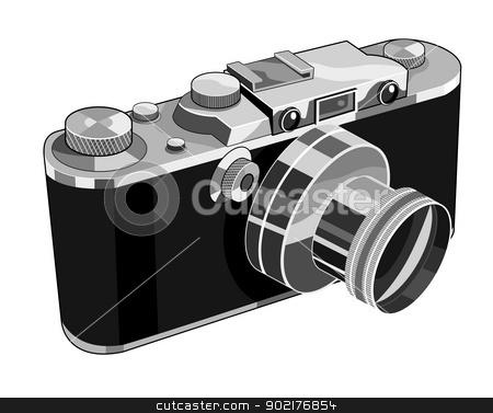 Vintage Camera Retro stock vector clipart, Illustration of a vintage camera done in retro style. by patrimonio
