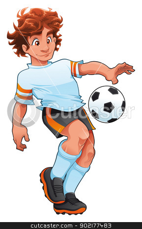 Soccer Player. stock vector clipart, Soccer Player. Cartoon and vector sport character, isolated objects by ddraw