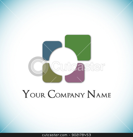 Checkered logo stock vector clipart, Checkered logo by muammer başer