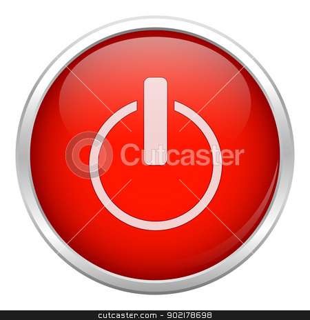 Red close icon stock vector clipart, Red close icon by muammer başer