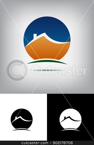 House logo stock vector clipart, House logo by muammer başer