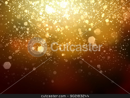 Gold abstract light background stock photo, Gold colour bokeh abstract light background. Illustration by Sergey Nivens